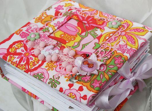 Фотоальбомы ручной работы. Ярмарка Мастеров - ручная работа. Купить Альбом для девочки на первый годик. Handmade. Розовый, фотоальбом для девочки
