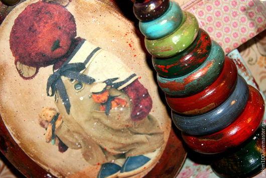 Элементы интерьера ручной работы. Ярмарка Мастеров - ручная работа. Купить Старенькие интерьерные панно с мишками. Handmade. Панно