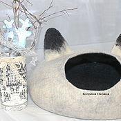 """Для домашних животных, ручной работы. Ярмарка Мастеров - ручная работа Кошкин дом из овечьей шерсти """"Ушастик"""". Handmade."""