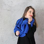 Scarves handmade. Livemaster - original item Snuff knitted Cornflower. Handmade.