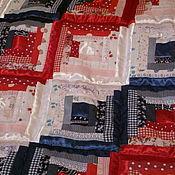 Для дома и интерьера ручной работы. Ярмарка Мастеров - ручная работа Одеяло/покрывало лоскутное ТРИКОЛОР. Handmade.