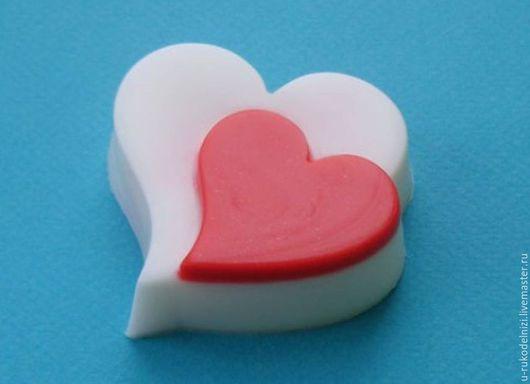 Материалы для косметики ручной работы. Ярмарка Мастеров - ручная работа. Купить Два сердца, форма для мыла пластиковая. В наличии.. Handmade.
