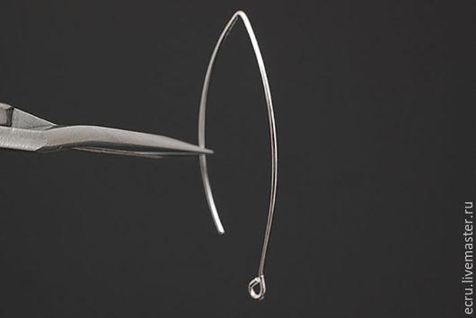 Швензы крючки для серег, родиевое покрытие, Южная Корея.