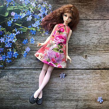 Куклы и игрушки ручной работы. Ярмарка Мастеров - ручная работа Платье на кукол BJD формата 1/4. Handmade.