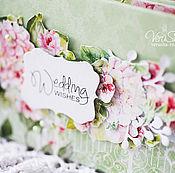 """Свадебный салон ручной работы. Ярмарка Мастеров - ручная работа Свадебная сберкнижка """"In bloom"""". Handmade."""