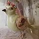 Статуэтки ручной работы. Голубка романтичная. Елена Злоказова 'Попурри-студия'. Интернет-магазин Ярмарка Мастеров. Голуби, мятный, лак