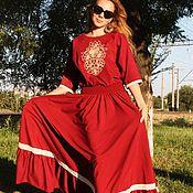 Одежда handmade. Livemaster - original item Chic dress Diva embroidery -Richelieu.. Handmade.