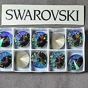 Материалы для творчества handmade. Livemaster - original item 1 PCs 12mm Rivoli Paradise Shine 001PARADSH Swarovski Rivoli Swarovski. Handmade.