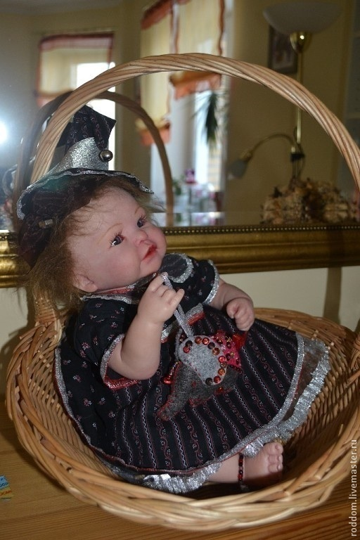 Куклы-младенцы и reborn ручной работы. Ярмарка Мастеров - ручная работа. Купить Маленькая колдунья Лиди. Handmade. кремовый, гранулят