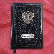 Канцелярские товары handmade. Livemaster - original item Diary handmade from genuine leather