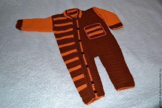Одежда ручной работы. Ярмарка Мастеров - ручная работа. Купить Комбинезон для новорожденных  Крепыш. Handmade. Вязаный, для новорожденных, крючком