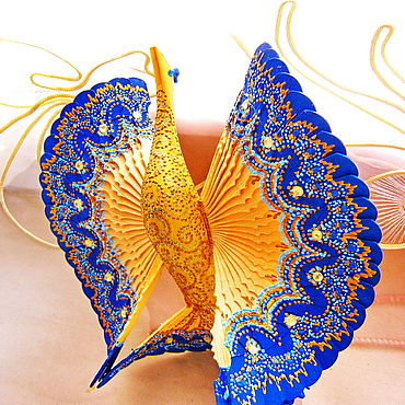 Русский стиль ручной работы. Ярмарка Мастеров - ручная работа Синяя Птица счастья дерево, роспись, домашний оберег. Handmade.