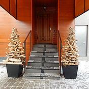 Для дома и интерьера ручной работы. Ярмарка Мастеров - ручная работа Ель деревянная для экстерьера. Handmade.