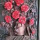 """Картины цветов ручной работы. Ярмарка Мастеров - ручная работа. Купить Авторская работа Картина """"розы"""". Handmade. Разноцветный"""