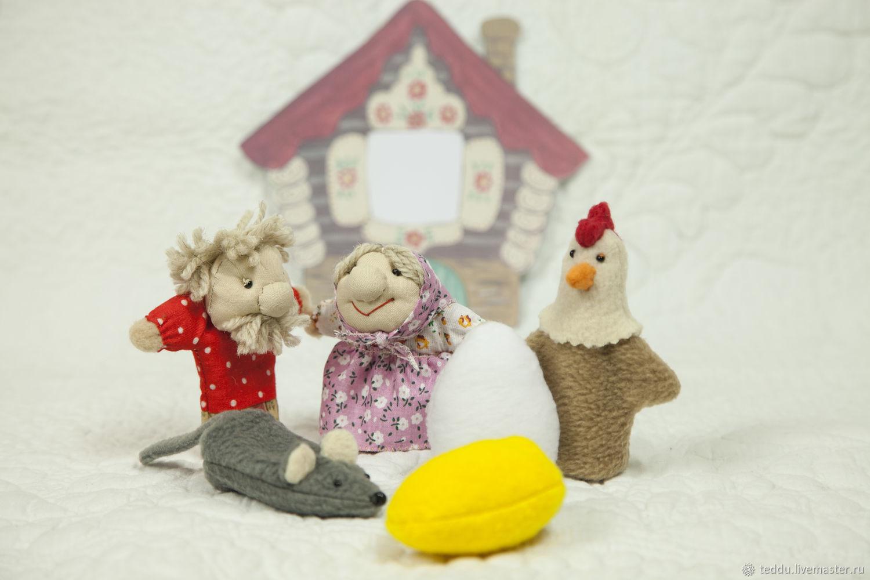 Курочка Ряба. Пальчиковый театр, Кукольный театр, Кемь,  Фото №1