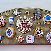 Аксессуары handmade. Livemaster - original item A souvenir soldier`s cap with badges DEMOBILIZATION. Handmade.