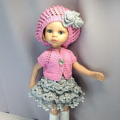 Куклы и игрушки handmade. Livemaster - original item Clothes for dolls: beret, blouse, skirt. Handmade.