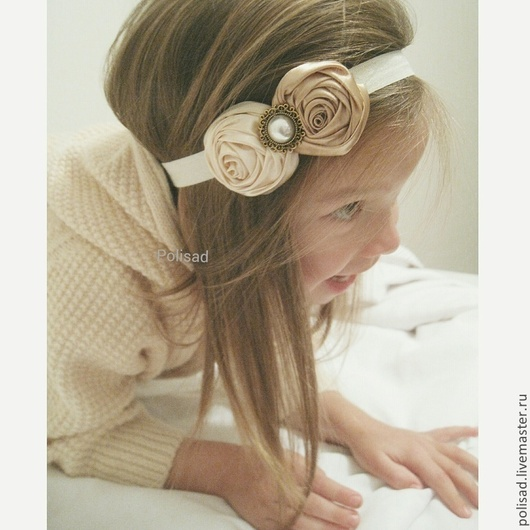"""Повязки ручной работы. Ярмарка Мастеров - ручная работа. Купить Повязка для волос """"Золотая нежность"""". Handmade. Золотой, повязка для волос"""