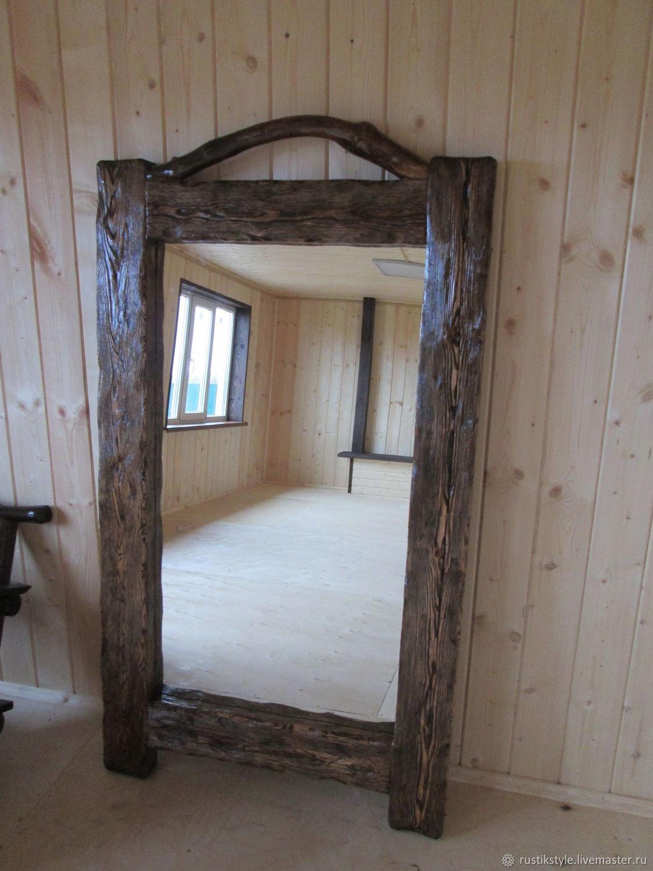 зеркало в рустикальном стиле
