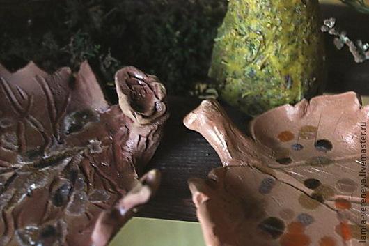 """Подсвечники ручной работы. Ярмарка Мастеров - ручная работа. Купить Подсвечник керамический """"Подарок леса"""". Handmade. Подсвечник, глина"""