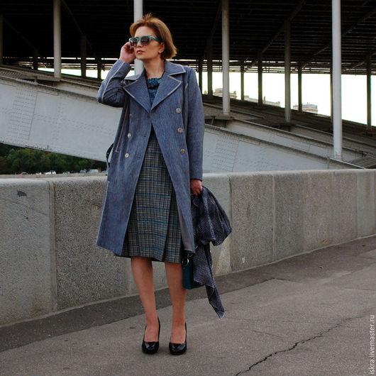 Верхняя одежда ручной работы. Ярмарка Мастеров - ручная работа. Купить Пальто Прохладный день. Handmade. Серый, городская мода