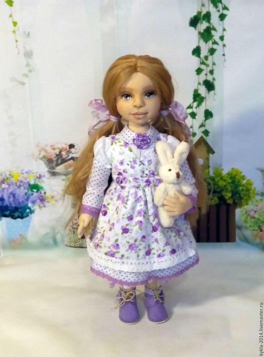 Коллекционные куклы ручной работы. Ярмарка Мастеров - ручная работа. Купить Варенька. Handmade. Кукла ручной работы, сиреневый