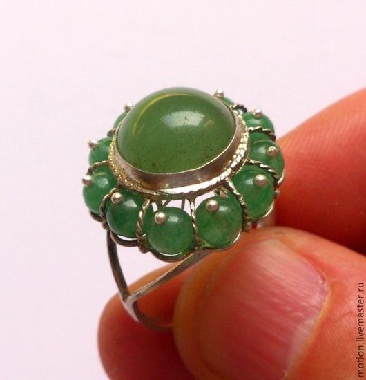 Кольца ручной работы. Ярмарка Мастеров - ручная работа. Купить Серебряное кольцо с нефритом, кольцо серебро 925 пробы, нефрит кольцо. Handmade.