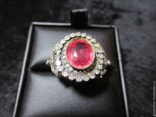 """Кольца ручной работы. Ярмарка Мастеров - ручная работа. Купить Уникальное кольцо с рубином и бриллиантами """"Маркиза"""". Handmade."""
