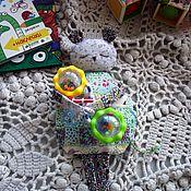 Куклы и игрушки ручной работы. Ярмарка Мастеров - ручная работа Грелка с вишневыми косточками. Лоскутная мышка.. Handmade.