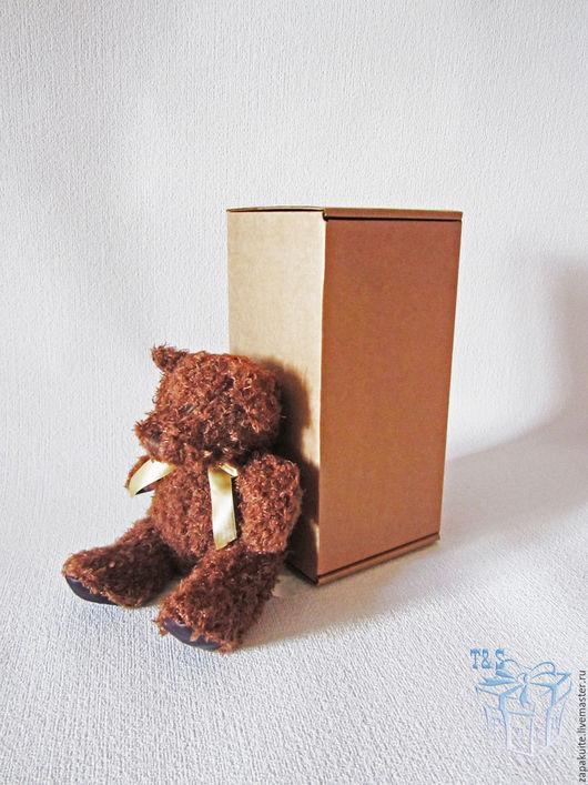 Упаковка ручной работы. Ярмарка Мастеров - ручная работа. Купить Крафт коробка, 10х10х20 см, мгк, коробка для игрушек, высокая, коробки. Handmade.