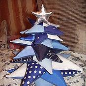Подарки к праздникам ручной работы. Ярмарка Мастеров - ручная работа Лоскутные ёлки. Handmade.