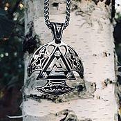 """Украшения handmade. Livemaster - original item Pendant / Amulet """"Protection of the Gods"""" of jewelry steel. Handmade."""