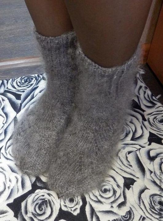 Носки, Чулки ручной работы. Ярмарка Мастеров - ручная работа. Купить Носки серые ажурные. Handmade. Серый, носки