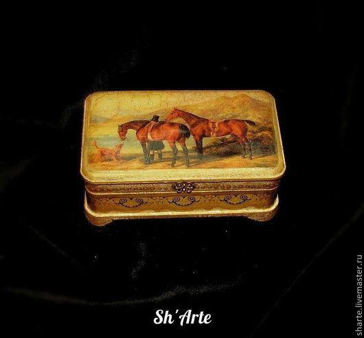 Шкатулки ручной работы. Ярмарка Мастеров - ручная работа. Купить Шкатулка с лошадьми У озера. Handmade. Шкатулка с лошадью, заготовка