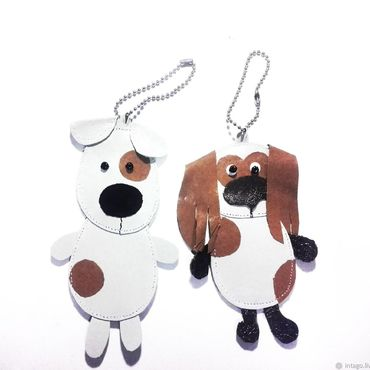 Accessories handmade. Livemaster - original item Charms - key chains dogs Fox Terrier and Spaniel. Handmade.
