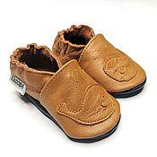 Одежда детская handmade. Livemaster - original item Whale Baby Shoes, Brown Baby Slippers, Ebooba, Toddler Moccasins. Handmade.