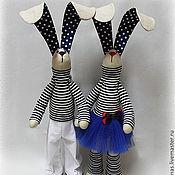 Куклы и игрушки ручной работы. Ярмарка Мастеров - ручная работа Зайки-моряки. Handmade.