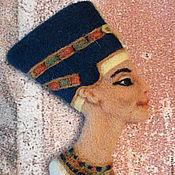 Брошь-булавка ручной работы. Ярмарка Мастеров - ручная работа Нефертити, Клеопатра - броши. Handmade.