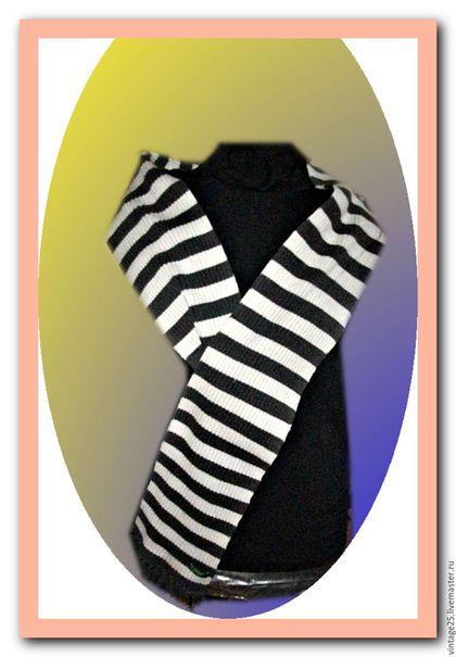 Винтажная одежда и аксессуары. Ярмарка Мастеров - ручная работа. Купить Винтажный шарф фирменный USA. Handmade. Комбинированный, теплый шарф