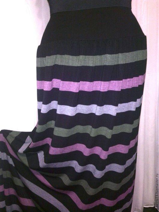 Юбки ручной работы. Ярмарка Мастеров - ручная работа. Купить Юбка У-72. Handmade. Разноцветный, юбка из трикотажа