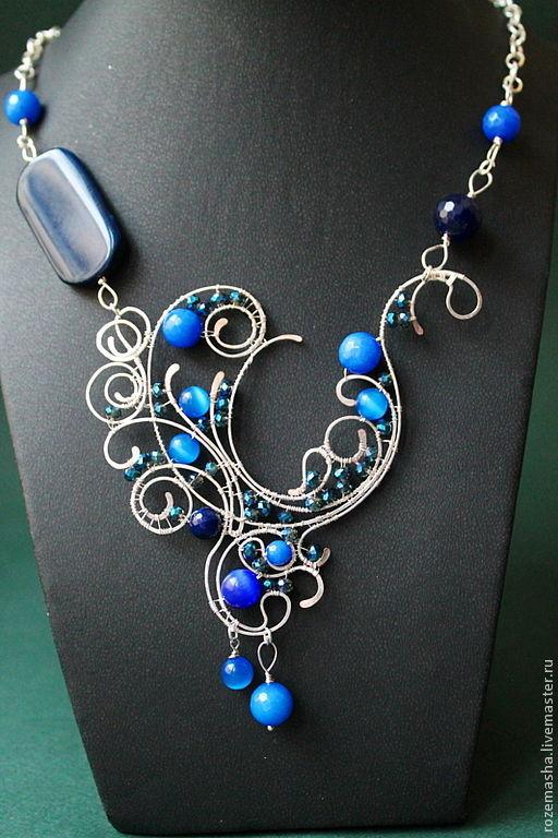 Колье, бусы ручной работы. Ярмарка Мастеров - ручная работа. Купить Колье Downton Abbey (вариант в синем). Handmade.