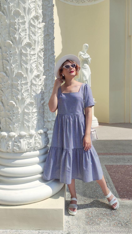 A-line dress, A-line of their cotton summer. Midi length, mini, floor length, Dresses, Moscow,  Фото №1
