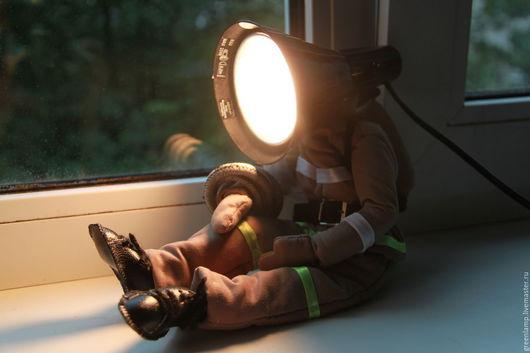 """Освещение ручной работы. Ярмарка Мастеров - ручная работа. Купить Лампа """"Пожарный"""". Handmade. Комбинированный, пожарный"""