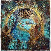 """Картины и панно ручной работы. Ярмарка Мастеров - ручная работа Панно """"Царственный Птах"""". Handmade."""