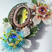 Украшения handmade. Livemaster - original item SNOWDROPS brooch pendant with natural labradorite. Handmade.