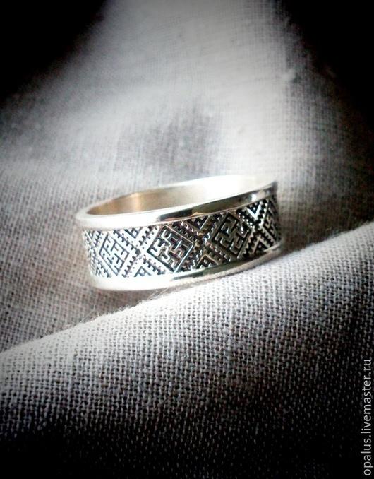"""Украшения для мужчин, ручной работы. Ярмарка Мастеров - ручная работа. Купить кольцо """"Перунов цвет"""". Handmade. Серебряное кольцо"""