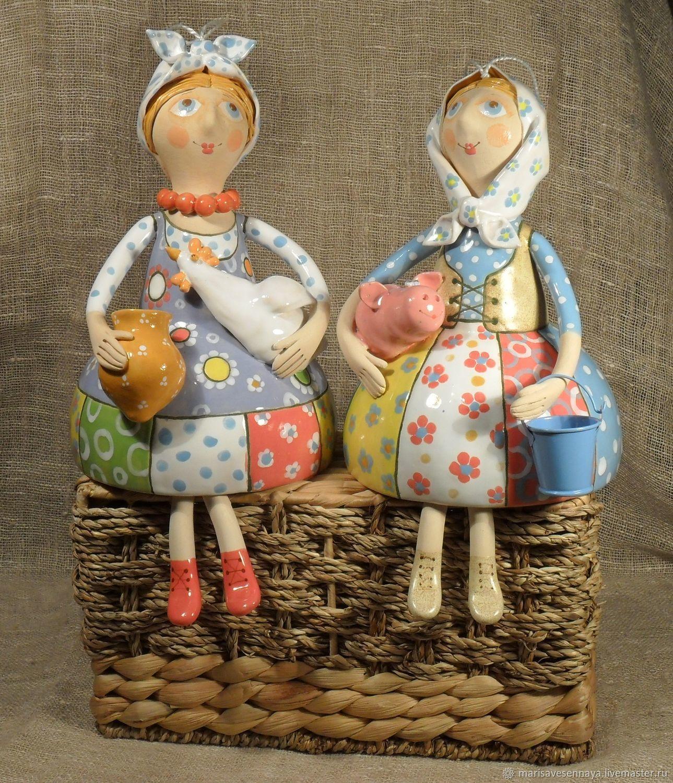 Кукла Бабушка с поросенком, Куклы и пупсы, Смоленск,  Фото №1