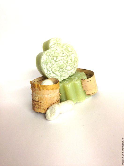 """Мыло ручной работы. Ярмарка Мастеров - ручная работа. Купить """"Березовый сок с шелком"""" натуральное мыло ручной работы. Handmade."""