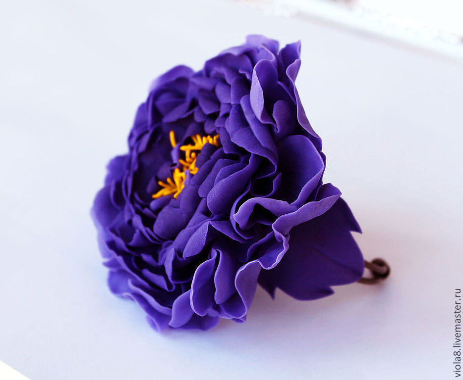 purple bracelet,flower bracelet,bracelet with flowers,large bracelets,bracelet purple,flowers from polymer clay,purple flower,decoration on the hand.Flowers and decorations Zarifa Pirogova