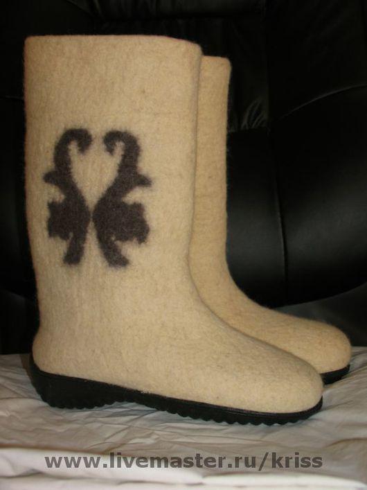 Обувь ручной работы. Ярмарка Мастеров - ручная работа. Купить валенки ЗИМА. Handmade. Валенки, войлок, обувь из войлока, шерсть